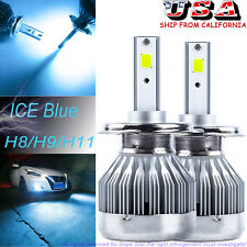 New Ice Blue 8000K H11 H8 H9 LED Low Beam Headlights Kit For Ford Fusion F-150