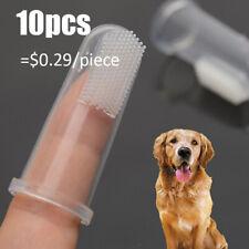 10x Soft Finger Toothbrush Pet Dog Oral Dental Cleaning Teeth Care Hygiene Brush
