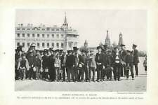 1917 Russian Schoolboys In Moscow With Patriarchal Schoolmaster