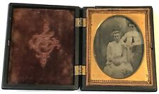 """Antique Daguerreotype 2 Young Women Sisters 3"""" by 2-1/2"""" Closed"""