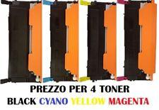 CARTUCCIA PER SAMSUNG CLP320 CLP325 X 4 TONER COLORI BLACK CYANO YELLOW MAGENTA