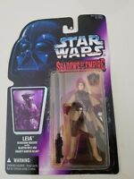 STAR WARS SHADOWS OF THE EMPIRE LEIA in BOUSHH DISGUISE 1996 ACTION FIGURE MOC!