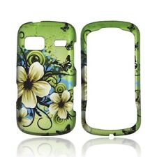 Design Rubberized Hard Case for LG Rumor Reflex VN272 - Green Hawaiian Flower