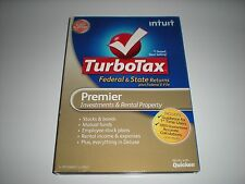 Turbotax 2012 Premier. Federal and State + Federal E-file. New in sealed box.