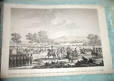 ANTIQUE PRINT BATTLE OF FRIEDLAND TILSIT TREATY 1807 FRENCH ARMY NAPOLEON  c1840