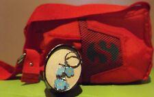 SUPERGA Borsa in tela rossa con tracolla e portachiavi