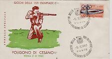 #IL TIRO A VOLO- POLIGONO DI CESANO- GIOCHI DELLA XVII OLIMPIADE- 1960- BUSTA