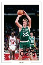 LARRY BIRD Boston Celtics firmato FOTO STAMPA BASKET Autograph