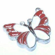 5 pieces butterly Zinc Alloy Enamel Charm Pendants - A0515