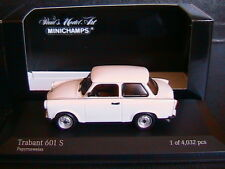 TRABANT 601S 1985 PAPYRUSWEISS MINICHAMPS 400014000 1/43 WHITE BIANCA BLANCHE
