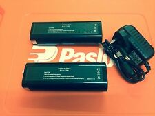 2 REPLACEMENT BATTERIES FOR PASLODE TOOLS PLUS AC/DC ADAPTER GREAT PRICE