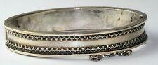 Mid 1850'S Victorian Antique Silver Over Brass Bracelet