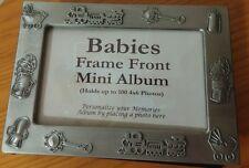 Newborn Baby Frame Front Picture Shower Nursery Holds 100 Photos Mini Album 4x6