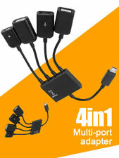 Micro USB Charging OTG Hub Splitter Cable for Smart Phone Android Tablet 4 In 1