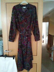 Penny Plain Size 18 Paisley Print Dress