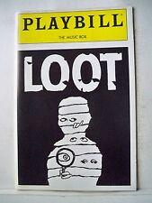 LOOT Playbill JOE ORTON / ALEC BALDWIN / ZELJKO IVANEK / ZOE WANAMAKER NYC 1986