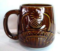 Hilton Turtle Bay Hawaii Coffee Tiki  Daga Mug 1986 Vintage