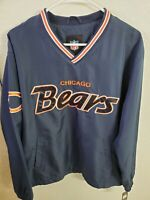 "NFL Apparel Chicago Bears Men's Pullover Jacket M(48""Chest/28""L) Navy NWT"