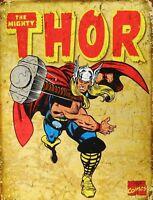 "TIN SIGN ""Thor"" Hero Signs Garage Wall Decor"