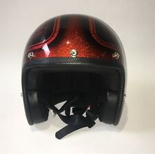 CASQUE MOTO JET - 70'S - PAILLETE - TAILLE M - retro, vintage, chopper, racing