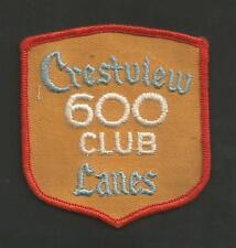 "CRESTVIEW LANES 550 CLUB VINTAGE PATCH 3 """