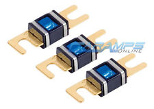 XSCORPION 150 AMP 3 PACK GOLD PLATED MINI ANL (AFS/MIDI) WAFER FUSES W LED LIGHT
