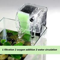 3 in 1 Aquarium Filter External Fish Turtle Tank Water Oxygen Circulation Pump