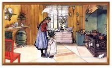 Carl Larsson pintor suecia la cocina Suzanne y golpear a Kersti mantequilla LW sp1