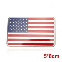 US American Flag 3D Car Sticker Auto Decor Decal Badge Emblem Adhesive Aluminium