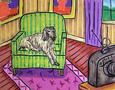 Afghan Hound dog art Print animals impressionism 11x17 gift new