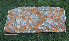 "French Vintage Art Deco c1930s Bird & Fruit Tree Printed Linen Fabric~26""LX 29""W"