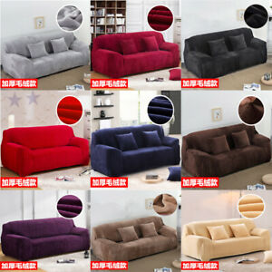 Velvet Elastic 1/2/3 Sofa Covers Couch Slipcover Stretch Settee Protector Fit AU