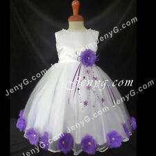 Robes violette en polyester pour fille de 0 à 24 mois
