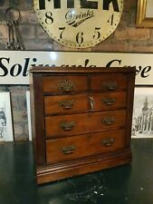 More details for very rare antique collectors cabinet drawers with keys