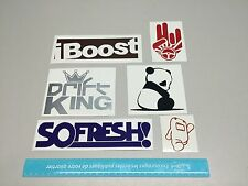 JDM decals set of 6 car stickers drift king panda domo so fresh iboost 2