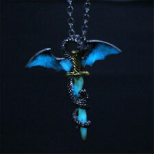 Game of Thrones Dragon Sword Punk Luminous Necklace Targaryen Glow Chain Pendant