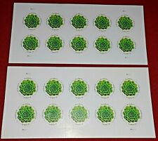 Two (2) GREEN SUCCULENT GLOBAL International Forever US Postage Stamps Sc# 5198