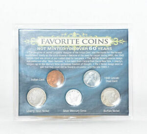 Genuine U.S. Coins Favorite Coins Not Minted Over 60 Years