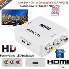 HDMI to AV 3 RCA Composite CVBS S-Video Converter Adapter PS3 SKY HDTV DVD PH011