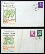 More details for gb northern ireland 1958 pair of superb regional fdc's cat £65 dl781