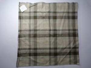 "Pottery Barn Colin Plaid Pillow Cover 24"" Neutral Multi  #4774"