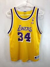 VTG Rare Champion Basketball Jersey O'Neal 34 Los Angeles Lakers Youth XL 18-20