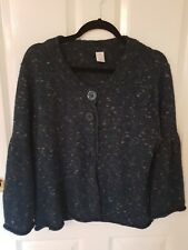 Ladies size 16 Lovely Speckled Alpeca Blend Blue Cardigan by Target