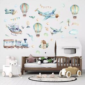 🌸Wandtattoo|Kinder-Babyzimmer|Flugzeug|Wandsticker|Mädchen|Junge|Neu🌸