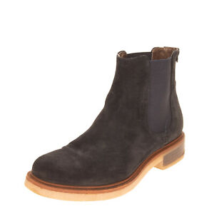 LEONARDO PRINCIPI Leather Chelsea Boots EU 40 UK 7 US 10 Crepe Sole Round Toe