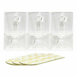 Rolson Easy Removable Adhesive Plastic Hook White Hanger Kitchen Bathroom