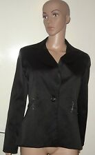 SIZE 12 BLACK SINGLE BREASTED BLAZER, PEACOCKS, E-VIE, NWOT