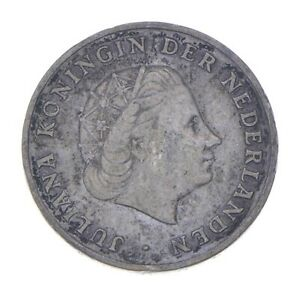 SILVER - WORLD Coin - 1952 Netherlands Antilles 1 Gulden World Silver Coin *068