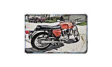 Ducati 750Gt 1973 Motorbike Sign Metal Retro Aged Aluminium Bike