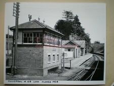 PHOTO  10 X 8 INCHES - LSWR FULLERTON RAILWAY STATION & SIGNAL BOX CLOSED 1964